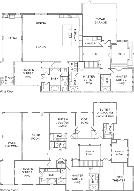 Floor Plan for Live Like a Sailor in this Classic Beach House